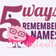 Learn How to Remember Names